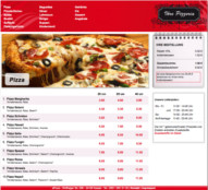 Pizza Online Shop Screenshot